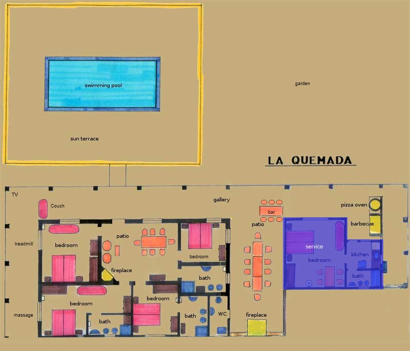 floor plan of the vacation home