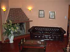 lounge with chimney
